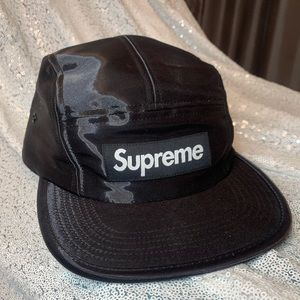 SUPREME - authentic - liquid silk camp hat - BLACK
